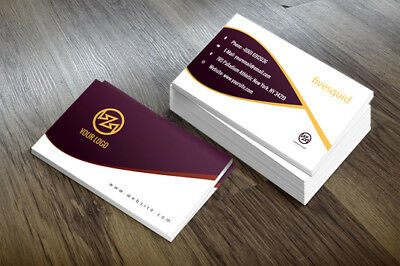 100 Business Cards custom Double sided printing