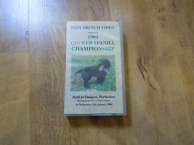 Cocker Spaniel Championships 1994 Snaigow Paul French Video Vhs Tape Rare