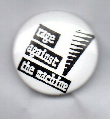 RAGE AGAINST THE MACHINE- BUTTON BADGE AMERICAN METAL RAP BAND -EVIL EMPIRE 25mm