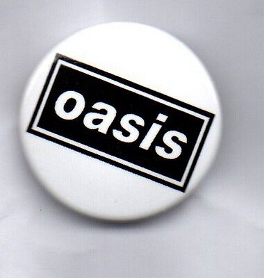 OASIS BUTTON BADGE English Rock Band - Wonderwall - Noel & Liam Gallagher 25mm