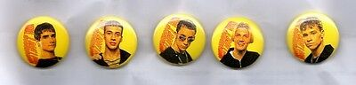 BACKSTREET BOYS SET OF 5 BUTTON BADGES  American Boy Band 90s - Everybody 25MM