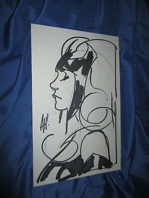 SCARLET WITCH Original Art Sketch by Adam Hughes ~Avengers/Marvel Comics/Movie