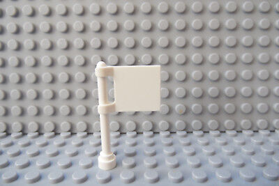 LEGO Solid White Flag 2x2 Lot of Five (Pole not included)