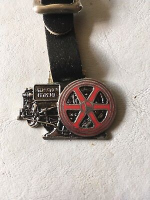 Antique McCormick Deeding Type M Gas Engine Watch Fob Hit Miss Stationary Engine