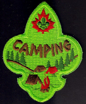 """Boy Scouts Canada """"camping"""" Embroidered Patch New"""