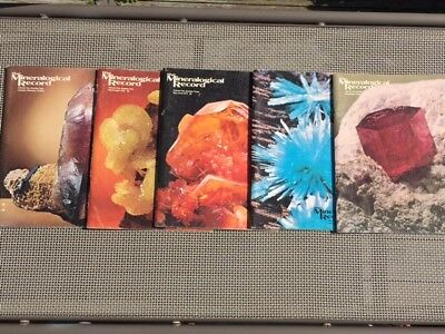Mineralogical Record 1979 5 issues