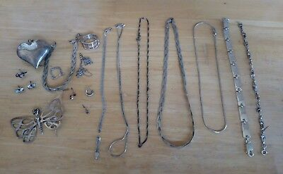 Lot Of Sterling Silver Jewelry Scrap or Sell 81 Grams Mixed Lot