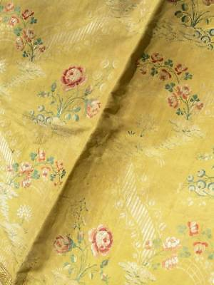 Large panel antique French woven 18th Century brocade silk (B)
