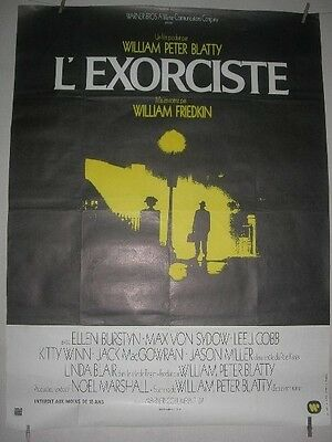 Huge Original French 'the Exorcist'. Film/ Movie Poster, 1973.