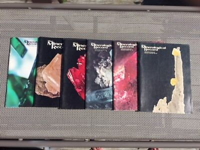 Mineralogical Record 1978 Complete Year 6 issues