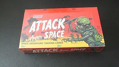 NEW Topps Heritage Attack from Space Mars Attacks Card Box 2012