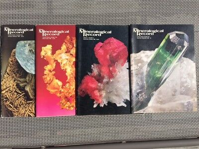 Mineralogical Record 1980 Complete Year 6 issues