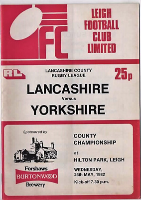 1982-Lancashire V Yorkshire-County Championship-@leigh Rugby League Programme