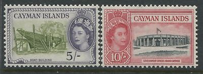 Cayman Islands QEII 1953 5/ & 10/ mint o.g.