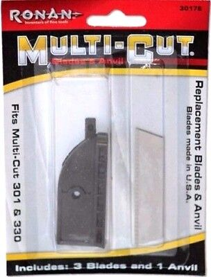 Ronan Tools 30178  Replacement 3 Blade & Anvil Kit for Multi-Cut 301 & 3-in-1