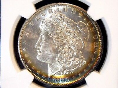 "1880 ""S"" Morgan Silver Dollar $1 NGC MS65+ PLUS Toned  ECC&C, Inc."