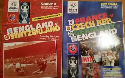 England football programmes