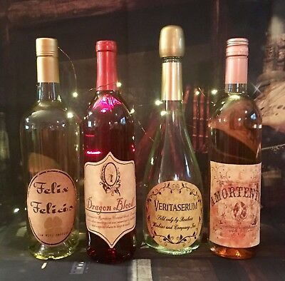LABELS ONLY Halloween Wine Apothecary Potion Bottles Harry Potter Party Prop