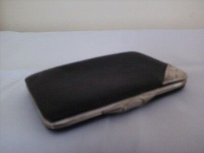 Vintage Leather And Hallmarked Silver Card Case.