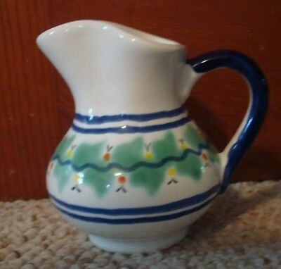 Mexican Pottery Juan F. Guerrero Small Pitcher Creamer Hand Painted Signed