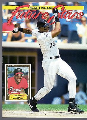 BACK ISSUE BECKETT FUTURE STARS  Apr. 92, #12 FRANK THOMAS ON COVER, MINT