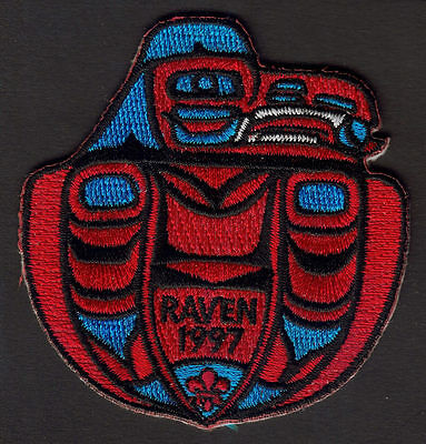 Boy Scouts Canada B.c. Pacific Northwest Raven Design 1997 Embroidered Patch