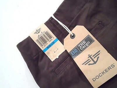 NEW Dockers Men's Cargo D2 Straight Fit Pants Size 36x34 Brown 052178746549