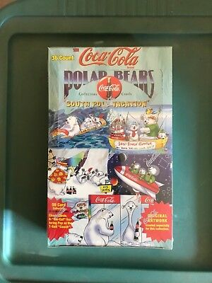 Coca Cola Coke Polar Bears Trading Card Box Factory Sealed 36 packs per box NEW