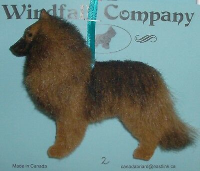 Belgian Tervuren Dog Plush Christmas Canine Ornament # 2 by WC