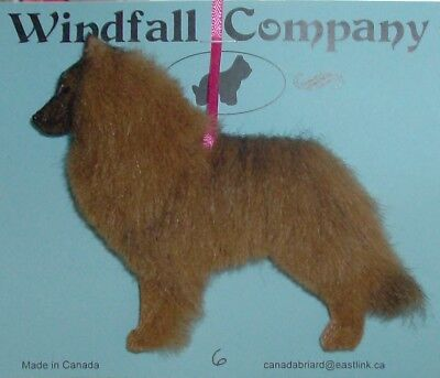 Belgian Tervuren Dog Plush Christmas Canine Ornament # 6 by WC