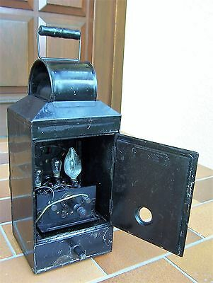 1895 Dr. C.H. WILLIAMS RAILROAD LANTERN for testing color PETER GRAY & SONS MASS