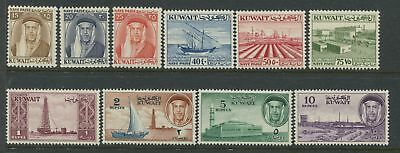 Kuwait 1959 15np to 10 rupees mint o.g.