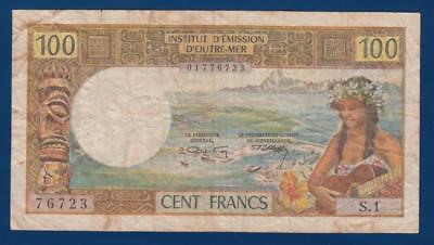French NEW CALEDONIA 100 Francs ND(1969) P59 Nouméa Institut Émission Outre-Mer
