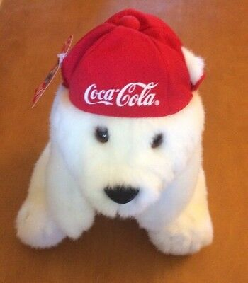Applause Dakin Coca-cola Bear With Red Cap 12""