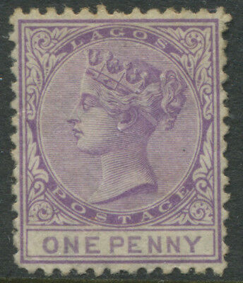 Lagos QV 1874 1d purple lilac unused no gum