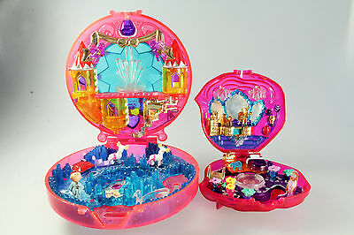 Polly Pocket - 2 Spieldosen - Sweet Roses und Starshine Palace (Bluebird)