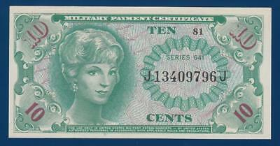 USA 10 Cents MPC 641 PM58 UNC Military Payment Certificate United States America
