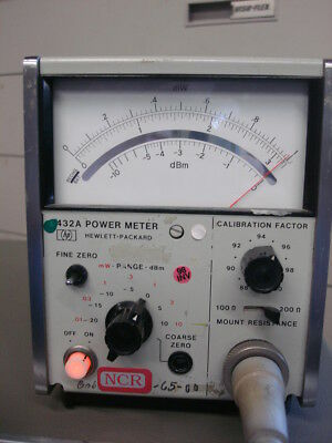 HP Agilent 432A power meter with 8120-1082 sensor cable included WORKING!
