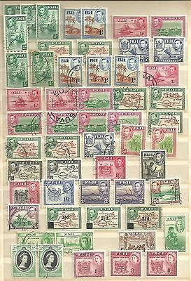 Fiji stamps..GVI mainly...Mint and Used.