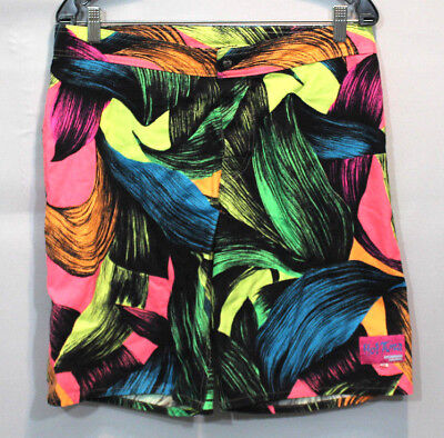 vintage mens 80s shorts board surfing geometric colorfull bright one of a kind