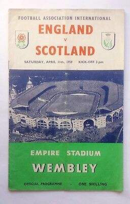 England v Scotland 15th April 1961 Full International Official Programme