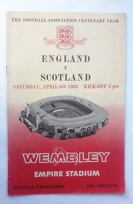 England v Scotland 6th April 1963 Full International Official Programme