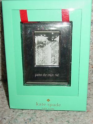 New Kate Spade Lenox Paint The Town Red Ornament Frame