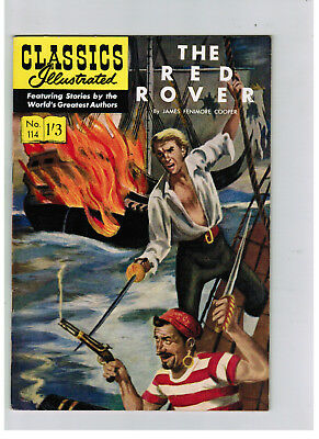 CLASSICS ILLUSTRATED COMIC No. 114 The Red Rover  HRN 129 NICE!