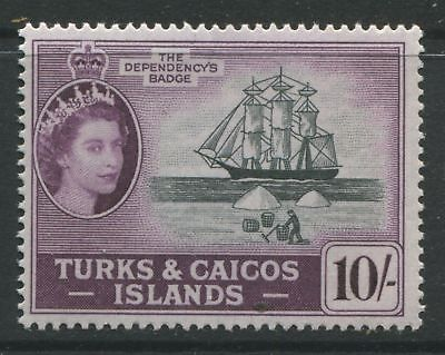 Turks & Caicos QEII 1957 10/ unmounted mint NH