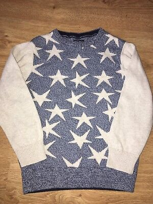 Next Boys Knitted Star ⭐️ Jumper Age 4-5 Years GUC!!