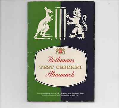 1961-Rothmans Test Cricket Almanack-Annual Official Yearbook Pocket Book