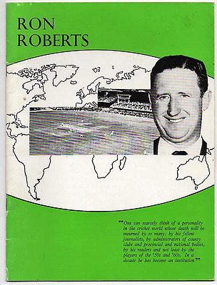 1966-Ron Roberts Fund Brochure-Tour Manager-Somerset County Cricket Committee