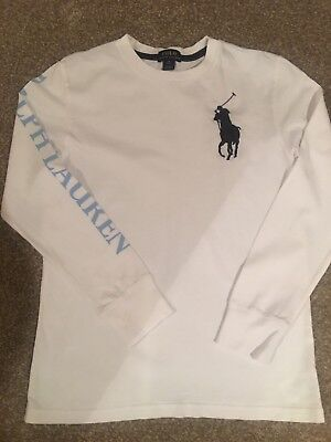 Boys Polo By Ralph Long Sleeve T Shirt Age 10-12