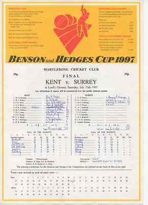1997-Kent V Surrey-@lords-Benson And-& Hedges Cup Final-County Cricket Scorecard